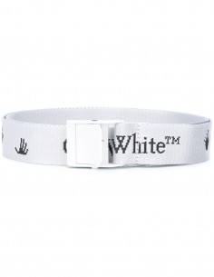 Ceinture blanche off-white New Logo