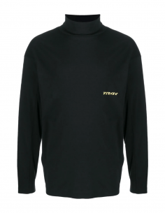 AMBUSH black turtleneck tee with logo for men, fall/winter 2020