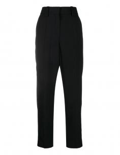 Pantalon carotte noir BALMAIN PARIS pour femme, automne/hiver 2020