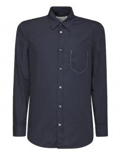 Chemise bleue en coton Maison Margiela de la collection Automne Hiver 2020.