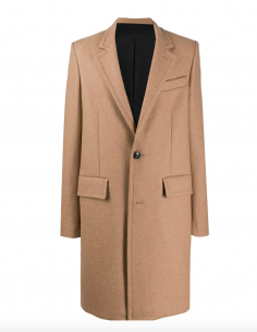 BEIGE STRAIGHT COAT 2 BUTTONS