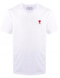 Tee Shirt Blanc Patch Logo Coeur AMI