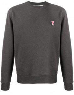 Sweatshirt Gris Col Rond Logo Coeur AMI