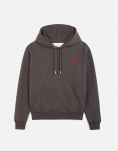 GREY HOODIE WITH LITTLE HEART