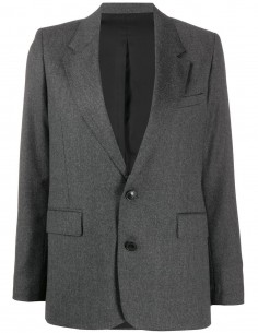 GREY BLAZER JACKET 2 BUTTONS