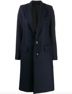 BLUE STRAIGHT COAT 2 BUTTONS