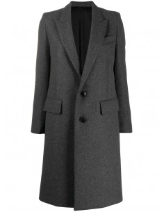 GREY STRAIGHT COAT 2 BUTTONS
