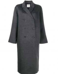 Grey Double-Breasted Overcoat
