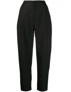 Black Straight Pleated Trousers