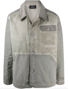Worker Jacket Grey Distressed Effect