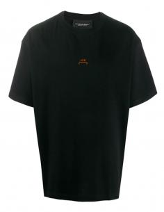 Black Tee Shirt Erosion Print