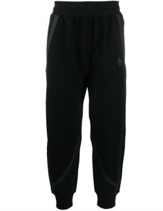 Bi-material Track Pants with Reflective Bands