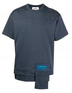 T-shirt Poches Zipp Reversible Bleu