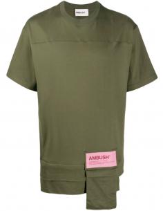 T-shirt Poches Zipp Reversible Kaki
