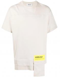 T-shirt Poches Zipp Reversible Beige