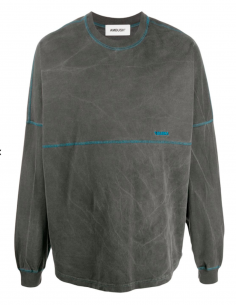 Tee shirt Long sleeves Grey Washed