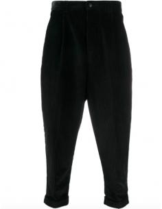 Pantalon Velours Côtelé Oversize Noir