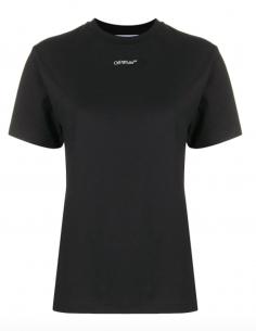 Black logo printed tee shirt