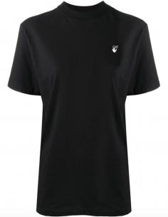 T-Shirt Noir Imprimé Fleurs Dos