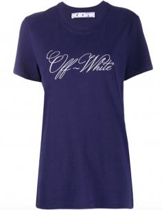 T-Shirt Bleu Logo Brodé