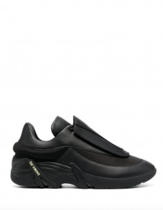 Black ANTEI Sneakers Huge Scratch Leather