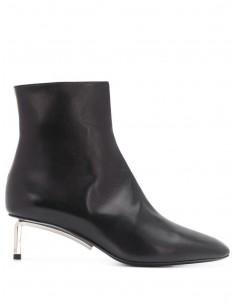 Boots Talon Tige Metal Noires