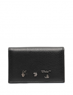 Black Double Card Holder Leather