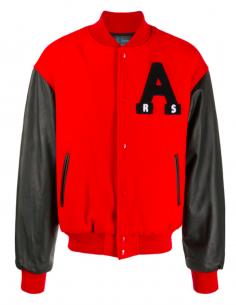 Red Americain Bomber Jacket