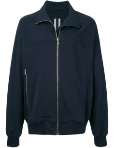 Blue High Collar Zip Sweatshirt