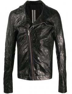 Jacket Zip Asymmetrical Leather