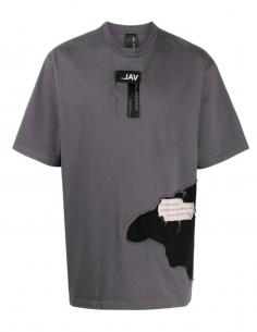Logo Bi-material Grey T-shirt