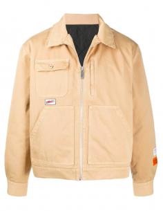 Worker Jacket Beige Quilted