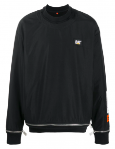 Sweatshirt HERON PRESTON X Caterpillar Nylon Zip Noir