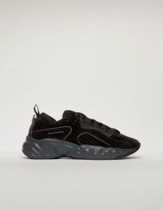 Black Suede Rockaway Sneakers