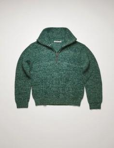 Pull Cammionneur Chiné Vert