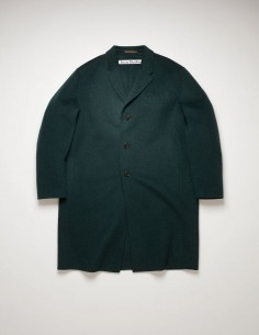 Coat Straight 3 Buttons Green
