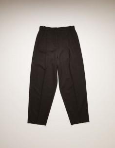 Pantalon Taille Haute Plissé Gris