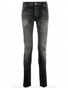 Jean skinny gris effet délavé balmain homme