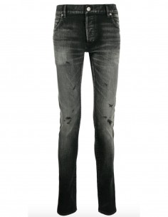 Skinny jeans in grey with faded effects