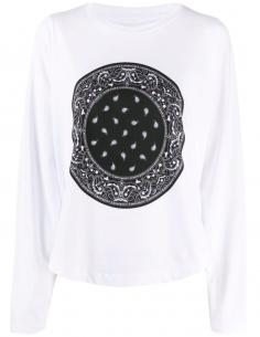 T-Shirt Imprimé Bandana Manches Chauve Souris