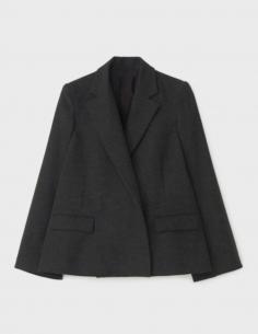 Jacket Wide Sleeves Wide Grey