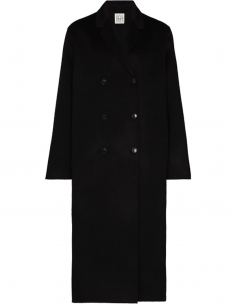 Black Double-Breasted Overcoat