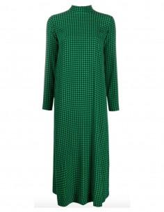 Robe longue à carreaux verts et noirs banni fw20