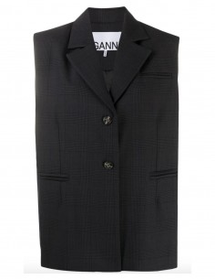 Sleeveless blazer jacket