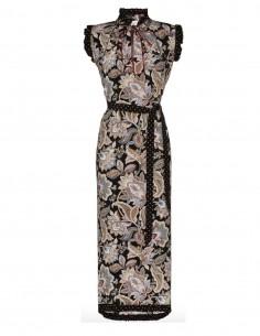 Robe en soie à motifs imprimés zimmermann fw20