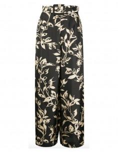 Pantalon large en soie imprimé fleuri  zimmermann fw20