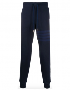 Pantalon de jogging bleu marine thom browne fw20