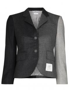thom browne Short-cut blazer jacket in patchwork women fw20