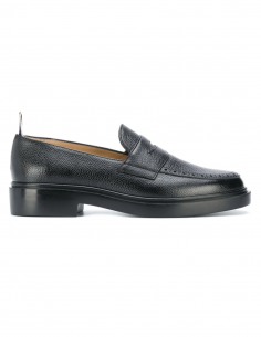 "thom browne fw20 women ""Penny"" mocassin in black leather"