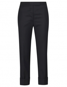 thom browne women fw20 Navy pants in wool with lapels